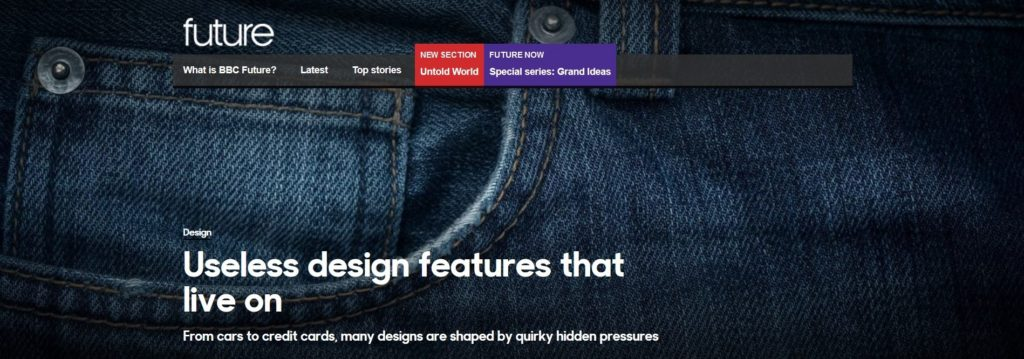 BBC Future Useless design features that live on
